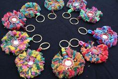 Bag Charm Zipper Charm Bag Charm Hook Tassels Keychains Luggage Tag 10 PSC LOT #Handmade