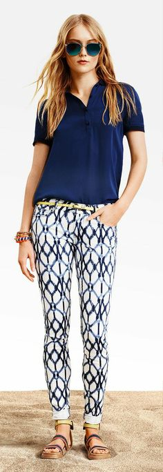 More patterned pants - these are my favorite spring trend.