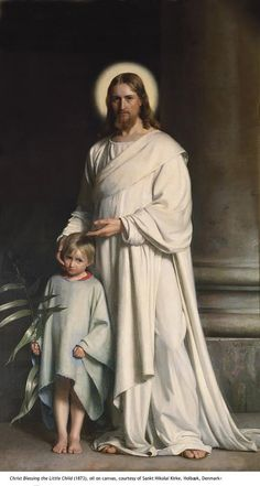 "Christ Blessing the Little Children ~ Carl H. Bloch  ~  ""Let the little children come to Me, and do not forbid them; for of such is the kingdom of God. Assuredly, I say to you, whoever does not receive the kingdom of God as a little child will by no means enter it."" And He took them up in His arms, laid His hands on them, and blessed them."