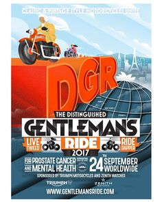The Distinguished Gentleman's Ride Triumph Bonneville T120, Global Charity, Tweed Ride, 24 September, Prostate Cancer, Cancer Support, Triumph Motorcycles, How To Raise Money, Fundraising
