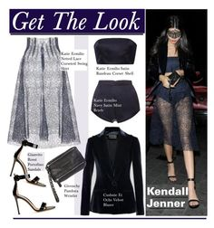 """""""Get The Look: Kendall Jenner"""" by hamaly ❤ liked on Polyvore featuring Cushnie Et Ochs, Katie Ermilio, Gianvito Rossi, Givenchy, GetTheLook, StreetStyle, lace, kendalljenner and waystowear"""