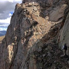 """""""'Trail' is a relative term.  Climbing the Sawtooth, Mount Evans, CO."""""""