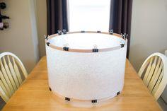 Ideas For Diy Kitchen Lighting Fixtures Drum Shade Home Diy, Diy Kitchen Lighting, Diy Drum Shade, Diy Lighting, Diy Shades, Bedroom Diy, Diy Drums, Diy Kitchen, Homemade Lighting