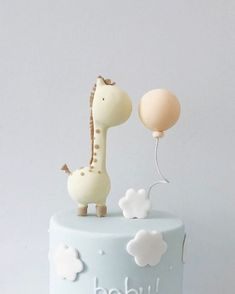"""1,081 Likes, 10 Comments - hello naomi specialty cakes (@hellonaomicakes) on Instagram: """"☁ The cutest baby shower cake! #hellonaomispecialtycake"""""""