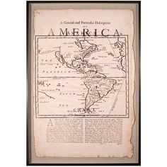 Natural Curiosities Vintage Map of America - Framed ($3,740) ❤ liked on Polyvore featuring home, home decor, wall art, vintage home accessories, quote wall art, typography wall art, vintage home decor and vintage wall art