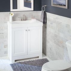 Glacier Bay Shaila 30-1/2 in. W Vanity in White with Cultured Marble Vanity Top in White PPSOFWHT30 at The Home Depot - Mobile