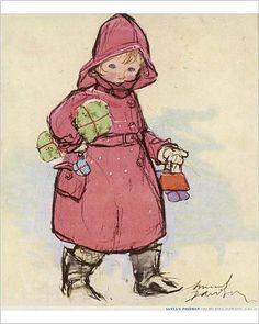 Photographic Print of Santa s Postman by Muriel Dawson