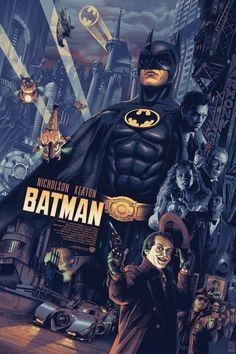 Batman Poster - Created by Aurelio Lorenzo Batman Poster, Batman Artwork, Joker Batman, Batman Robin, Batman The Movie, Batman Arkham, Superman, Batman Tattoo, Batman Wallpaper