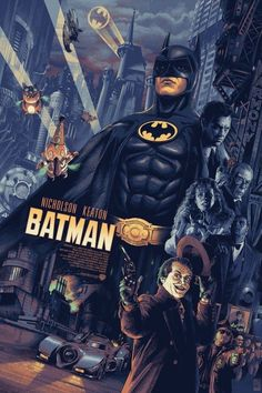 Batman Poster - Created by Aurelio Lorenzo Batman Poster, Batman Artwork, Batman Wallpaper, Classic Movie Posters, Movie Poster Art, Retro Posters, Comic Books Art, Comic Art, Comic Movies