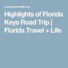 Highlights of Florida Keys Road Trip   Florida Travel + Life