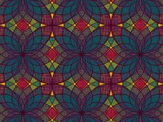 The beautiful #jewel tones and kaleidoscopic #pattern make me think of a stained glass window #color