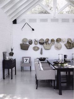 have a walk in closet with one wall for hanging bags like these. you always know how many you have !