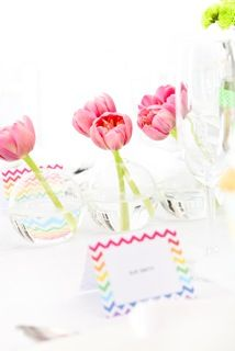 You are In Good Company: GOOD ON PAPER - Chevron Rainbow Place Cards