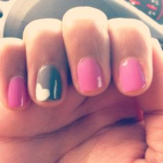 cute nails  Most beautiful and popular Pins of Nail Designs -Follow Me, get inspired and get more nail desings - nail art :)