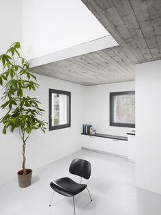 grey washed wood ceiling treatment
