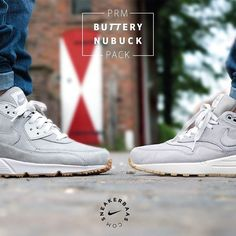 #nike #nikePRM #airmax1 #airmaxone #AM1 #butterynubuck #nubuck #sneakerbaas #baasbovenbaas  Nike Air Max PRM 'Buttery' Nubuck-Nike proceeds to use the premium nubuck but now in a grey colorway. The silhouettes of the Nike Air Max 1 and 90 are equipped with buttery nubuck and slick gumsoles. A crisp, white midsole splits things up at the bottom.  Now online available | Men Sizes 38.5 – 46 EU  Nike Air Max 1 PRM: 139.95 EU Nike Air Max 90 PRM: 144.95 EU