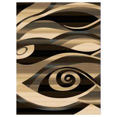 Segma RE-6610 Reflections Area Rug, Black at ATG Stores