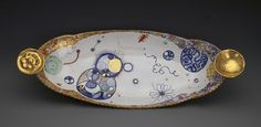 Long Dish with Coins
