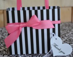 Partido de leopardo rosa y negro favor / bolsa por SandysCandyBags
