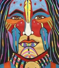 Rainbow Man, Warrior ~ George Littlechild ~ Canadian First Nations Artist Native American Paintings, Native American Artists, Native American History, Canadian Artists, Native American Indians, Native American Drawing, Xingu, Rainbow Warrior, Arte Country