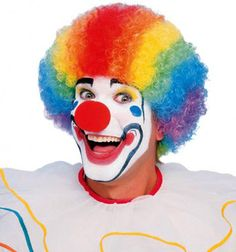 Clown Rainbow Afro Costume Wig (Unisex) You will look and feel amazing wearing this wig. www.thewigoutlet.com.au