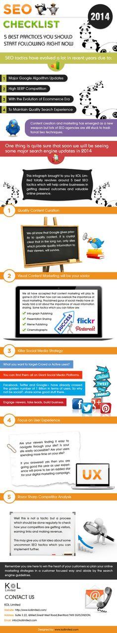 #SEO #Checklist | #Infographic