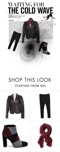 """""""The leather jacket - Toujours a la mode!"""" by alex-valerie ❤ liked on Polyvore featuring Prada, American Retro, Roberto Festa and Banana Republic"""