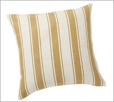 "Chunky Stripe Pillow Cover, 24"", Gold #potterybarn"