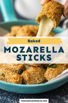 Baked mozzarella sticks are easy to make and healthier than the fried version. They are crispy on the outside and gooey in the middle, the perfect appetizers for game days, parties or just a cozy night in.  #stringcheese #mozarellasticks #fingerfood #appetizerrecipe #partyfood #gamedayappetizer Game Day Appetizers, Appetizer Recipes, Dinner Recipes, Mozzarella Sticks Recipe, String Cheese, Game Day Food, Healthy Options, Finger Foods, Homemade