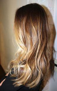 Blended beautiful highlights. Auburn Brown honey blonde coloring. Box No. 216