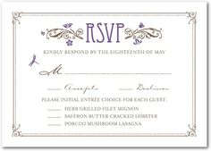 Until Forever - Signature Ecru Wedding Response Cards in Black or ...