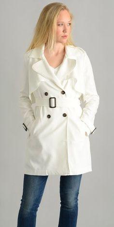 498855cb8c9d J.O.A. Ivory Trench Coat KR1184