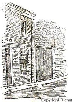 Newspaper Sketch of the murder site in Buck's Row.