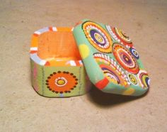 Small Hand Painted Wooden Box