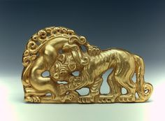 Belt Buckle  Created: Sakae Culture. 6th - 5th century BC  Found: Russia, Siberia. Siberian collection of Peter I