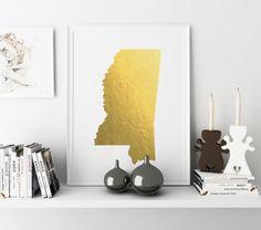 USA MAP PRINTABLE Missouri watercolor Nebraska print by TypoWorld