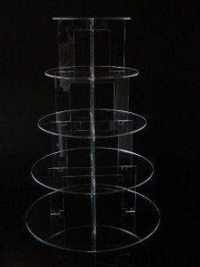 5 Tier Circle Acrylic Cupcake Party Wedding Stand - TK5C