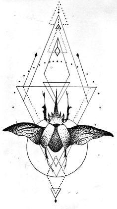Beetle Tattoo by grisouICSH.deviantart.com on @DeviantArt