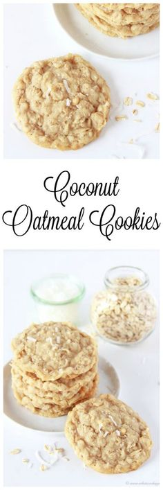 Coconut Oatmeal Cookies on www.cookingwithru... will bring a smile to your lips with every chewy-coconutty-deliciously fabulous bite!