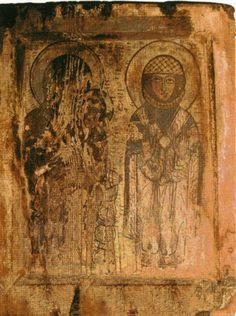 БОГОМАТЕРЬ с МЛАДЕНЦЕМ и св. Варвара 10 век Сванетия