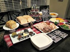 Keeping up with the Joneses: Panini Party: December Supper Club Sandwich Bar, Roast Beef Sandwich, Sandwiches, Sandwich Spread, Soup And Sandwich, Sandwich Ideas, Paninis, Soup Bar, Hawaian Party
