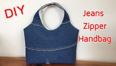 Pencil Case Tutorial, Diy Bags Tutorial, Handbag Tutorial, Pouch Bag, Tote Bag, Pouches, Diy Bags No Sew, Bag Sewing, Recycle Jeans