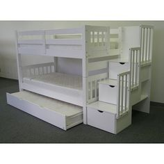 Bunk trundle with stairs perfect!!!!
