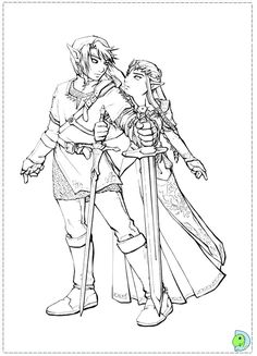 10 best Legend of Zelda coloring pages images on Pinterest in 10 ...