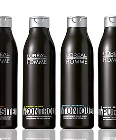 At last, a professional haircare line for men: LOréal Professionnel Homme. The LOréal Professionnel Homme complete range of premium products (haircare, hairstyling, hair color) with quick-to-create matte, structured or groomed styles.