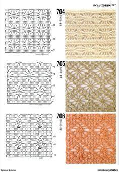 Schéma ou diagramme motif pour crochet