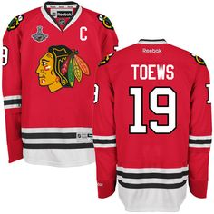 Jonathan Toews Chicago Blackhawks Reebok 2015 Stanley Cup Champions Premier Home Jersey - Red - $167.99