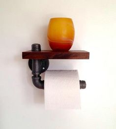 Rustic Toilet Paper Holder - 40 Rustic Home Decor Ideas You Can Build Yourself