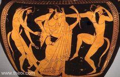 ancient dancing greek  | Dionysus & dancing Satyrs | Greek vase, Athenian red figure krater
