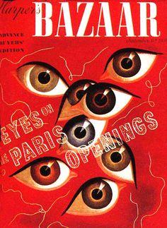 Harper's Bazaar cover design by A.M. Cassandre 1939.